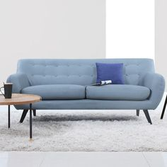 Madison Home USA Mid Century Modern Tufted Sofa Upholstery: Grey