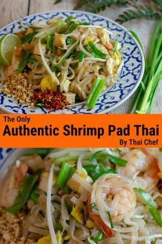 Authentic Pad Thai Recipe – Unipan Kitchen - Still looking for real authentic Pad Thai recipe? This shrimp Pad Thai includes the secret ingredie - Asian Noodle Recipes, Thai Recipes, Asian Recipes, Oriental Recipes, Oriental Food, Pad Thai Noodles, Asian Noodles, Ramen Noodles, Noodle Soup