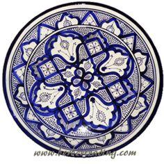 Modern Moroccan ceramic plate