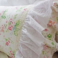 Pretty cream pink roses bedding