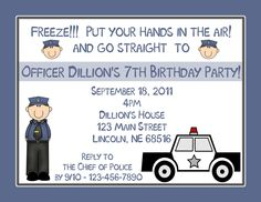 Picture Perfect Party Place: POLICE BIRTHDAY PARTY THEME