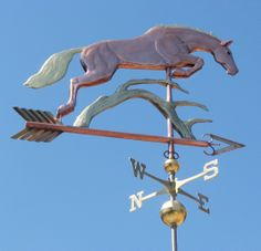 Horse Weather Vane Jumping Branch by West Coast Weathervanes.