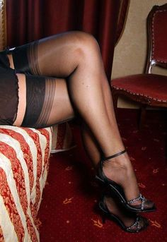 What a beautiful pair of stocking-covered legs!!