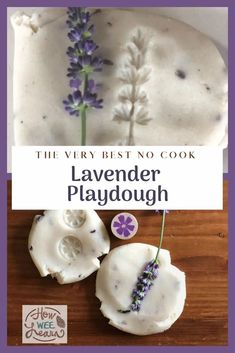 This lavender playdough smells so good! Its our go-to no-cook homemade play dough - relaxing and fun for the kids. Cooked Playdough, Homemade Playdough, Playdough Activities, Kids Learning Activities, Rainbow Rice, Lavender Benefits, Sensory Play, Sensory Bins, Arts And Crafts Projects