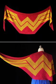 DIY: wonder woman wrap #Knitting