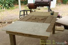 outdoor tile table tutorial