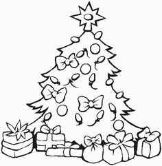 Presents Coloring Page Home Pages For Kids Printable Christmas Tree Color