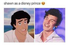 Shawn as a Disney prince
