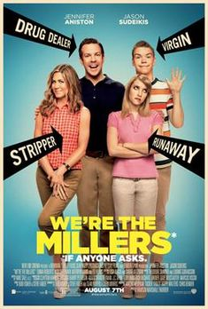 Jennifer Aniston, Emma Roberts, Jason Sudeikis, and Will Poulter in We're the Millers Jennifer Aniston, Will Poulter, Streaming Hd, Streaming Movies, Wir Sind Die Millers, Millers Movie, Thomas Lennon, Fake Family, Kathryn Hahn