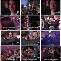 Teen Wolf S1E11 - Scott sneaks into Prom, Coach Finstock catches him.