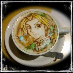 Coffee-art : Link and Navi