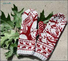 Ravelry: siiliste's Woodland mittens / Kindad