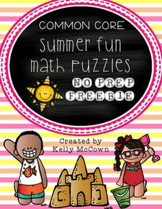 A sampling of my Summer Math packet that your students will want to do every day of the summer! This packet is just plain fun. Not only is it PACKED with grade level common core math problems, it also gives students fun coloring, puzzles, and problem solving.