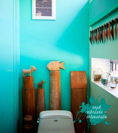 A blue bathroom!