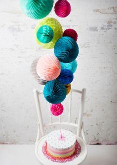 Honeycomb decorative balls - such gorgeous colours!