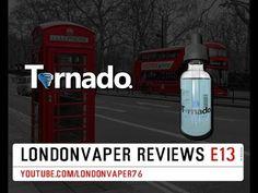 Vape Dinner Lady Tornado - Cool Blizzard E-Liquid Review - YouTube