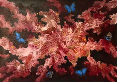 Blood butterflies - 2019 x 170 cm. Butterflies, Blood, Painting, Art, Exhibitions, Pintura, Art Background, Painting Art, Kunst