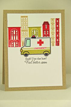 Feel Better Soon Card by Erin Lincoln for Papertrey Ink (February 2014)