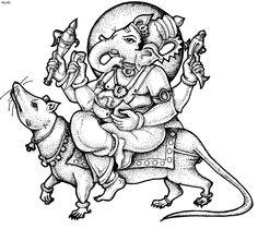 Ganesha Chaturt Coloring Page, Ganadhyakshina Coloring Page, Ganesha Chaturt Coloring Book
