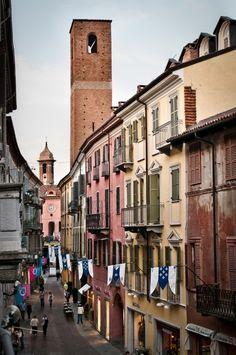 Alba, Via Maestra in the Langhe. Piemonte Italy