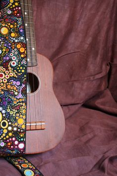Vegan Ukulele StrapGalactic pattern by islandprovisions on Etsy, $25.00