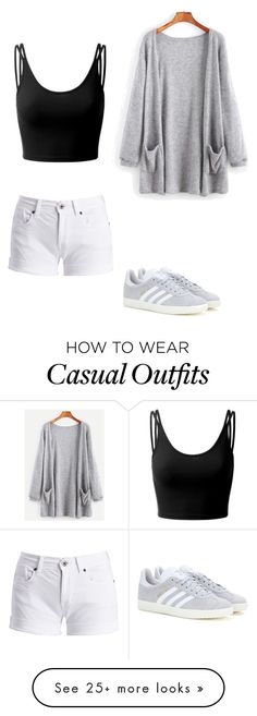 """""""casual"""" by ellonahmonet on Polyvore featuring Barbour International, Doublju and adidas"""