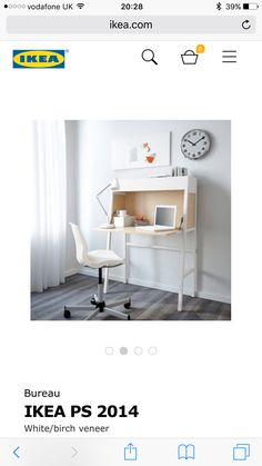 IKEA PS 2014 Secretary IKEA Cable outlets for easy cable management. Ikea Ps 2014, Desks For Small Spaces, Furniture For Small Spaces, Small Workspace, Space Furniture, Home Furniture, Furniture Outlet, Discount Furniture, Home Office Design