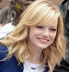 Cabelo medio feminino para rosto redondo