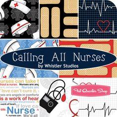 Calling All Nurses Half Yard Bundle Whistler Studios for Windham Fabrics - Fat Quarter Shop