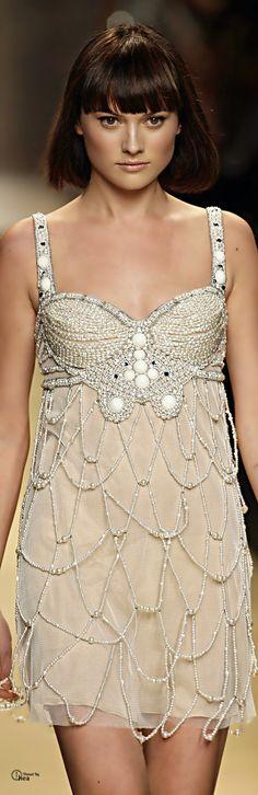 ✿~ PEARLFECION `✿⊱╮* *Jenny Packham ● Beaded Cocktail Dress*