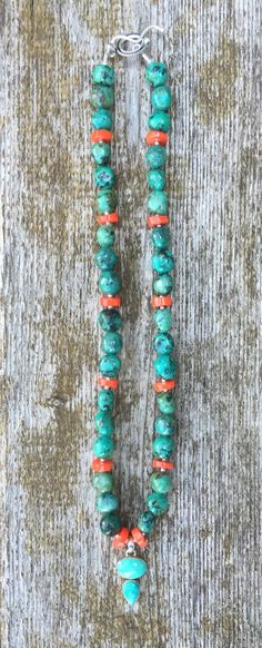 A personal favorite from my Etsy shop https://www.etsy.com/listing/385460758/turquoise-with-orange