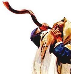 blowing the Shofar in Israel