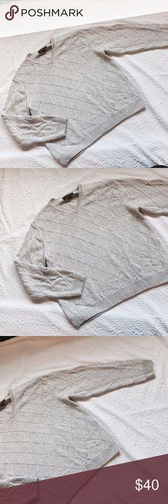 "Tasso Elba Size Large Sweater Grandpa Grey Gray Tasso Elba Size Large Sweater Grandpa Grey Gray V Neck Fast Shipping  Like New!  Measurements: Length 24"" Sleeve Length 24"" Shoulders 18.5"" Armpit to Armpit 24""   Fabric: 100% Cotton. Tasso Elba Sweaters V-Neck"