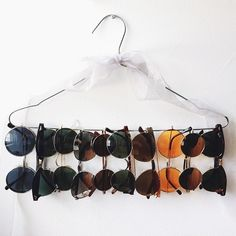 Sunglasses shared by F*ck everyone on We Heart It Cute Room Decor, Aesthetic Room Decor, New Room, Room Inspiration, Bedroom Decor, Sunglasses Storage, Sunglasses Organizer, Sunglasses Holder, Sunnies