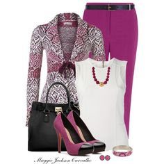 """Colored Pants"" by maggie-jackson-carvalho on Polyvore"