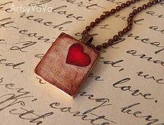 Artsy VaVa: Valentine Scrabble Tile Pendants #scrabbletile