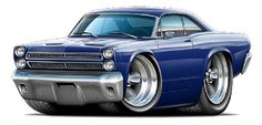 Cartoon Muscle Cars