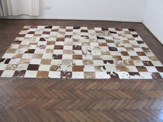 $482 on etsy.com Awesome Patchwork Cow Hide Rug