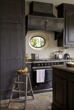 I suspect it is very hard for this to feel authentic in a modern home. That said, this kitchen is sort of amazing.