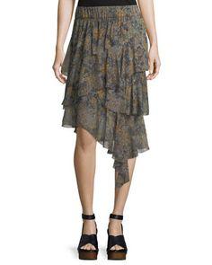 Zephi+Ruffled+Chiffon+Skirt+by+Etoile+Isabel+Marant+at+Bergdorf+Goodman.