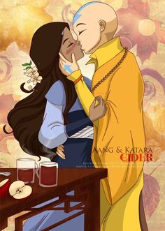 Aang and Katara - Cider by ~selinmarsou