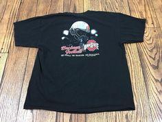 OHIO STATE BUCKEYES Football black t-shirt sz XL 531