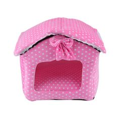 Cozime Gorgeous Pink Princess Pet Cave House Cats Dogs Soft Cosy Sleeping Beds Nest -- undefined #CatBeds and Blankets
