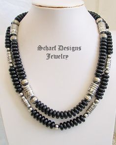 Schaef Designs Black onyx & sterling silver Southwestern Necklace | turquoise jewelry | New Mexico
