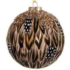 Feather Ball with Beads Ornament http://shop.crackerbarrel.com/Feather-Ball-with-Beads-Ornament/dp/B00NA8H2Y6
