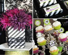 purple & green halloween party from 505 design