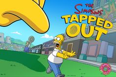 The title screen of Simpsons Tapped Out.