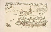 A view of the Murderers' Bay, as you are at anchor here in 15 fathom, Isaac Gilsemans, 1642
