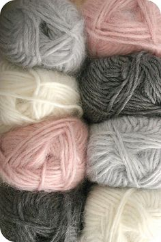 soft sweet colorways... love these colors together
