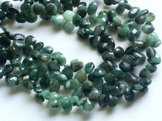 Emerald Beads Natural Emerald Faceted Pear by gemsforjewels